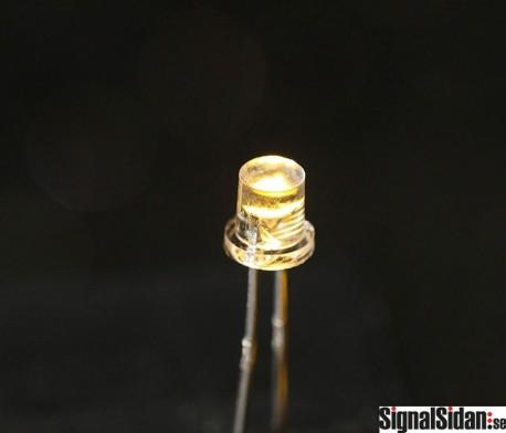 Lysdiod 3mm Varmvit Flatnose 10-pack [30-035]