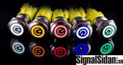 Tryckknapp med LED vattentät [21-014]