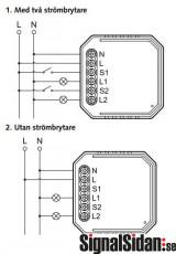 Wi-Fi Dosbrytare 2-kanal/kron [17036]