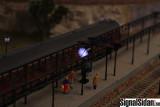 Stationsklocka H0 m. belysning [1750]
