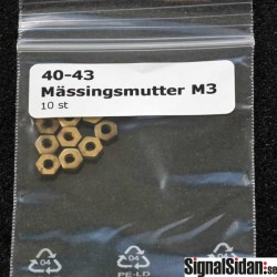 Mässingsmutter M3 10-pack